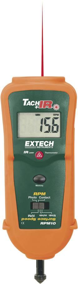 Image of Extech RPM10 Drehzahlmesser mechanisch, optisch 0.5 - 19999 U/min 10 - 99999 U/min Werksstandard (ohne Zertifikat)