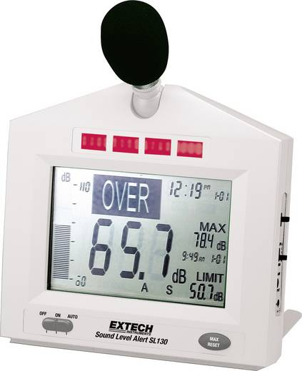 Extech SL130W Schallpegel-Messgerät, Lärm-Messgerät 31.5 - 8000 Hz