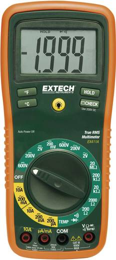 Extech EX411 Hand-Multimeter digital Kalibriert nach: ISO CAT III 600 V Anzeige (Counts): 2000