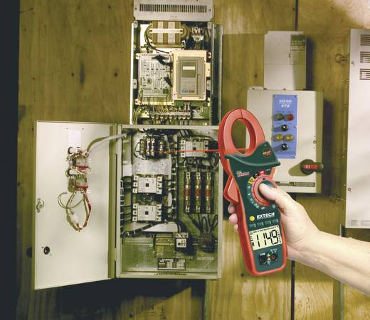 Stromzange, Hand-Multimeter digital Extech EX810 Kalibriert nach: Werksstandard IR-Thermometer CAT III 600 V Anzeige (Counts): 4000