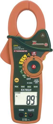Stromzange, Hand-Multimeter digital Extech EX830 Kalibriert nach: ISO IR-Thermometer CAT III 600 V Anzeige (Counts): 400