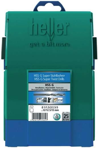Heller 28707 4 HSS Metall-Spiralbohrer-Set 25teilig geschliffen Zylinderschaft 1 Set