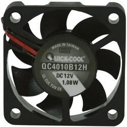Axiálny ventilátor QuickCool QC4010B12H QC4010B12H, 12 V/DC, 33.5 dB, (d x š x v) 40 x 40 x 10 mm