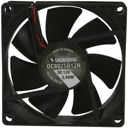 Axiálny ventilátor QuickCool QC8025B12H QC8025B12H, 12 V/DC, 35 dB, (d x š x v) 80 x 80 x 25 mm