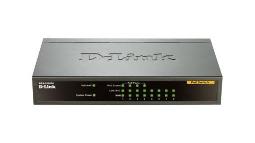 D-Link DES-1008PA Netzwerk Switch RJ45 8 Port 100 MBit/s PoE-Funktion