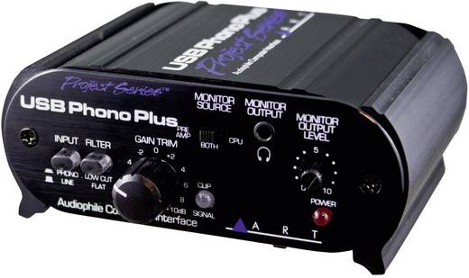 Audio Interface ART Audio USB Phono Plus Project Series Monitor-Controlling