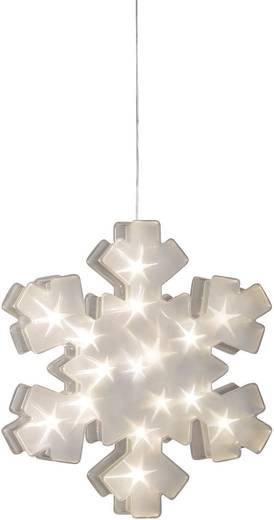 Konstsmide 2785-103 LED-Fensterbild Schneeflocke Warm-Weiß LED Transparent