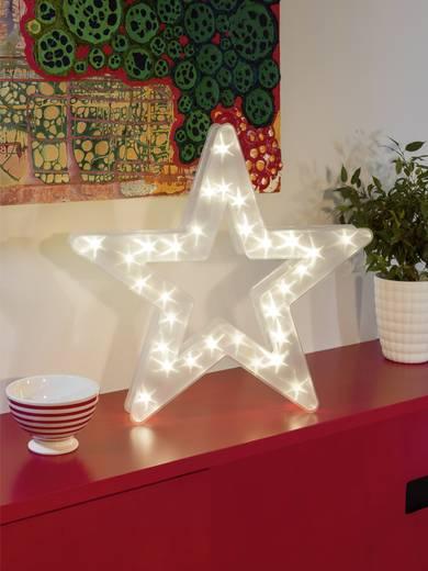 LED-Weichnachtsstern Stern Warm-Weiß LED Konstsmide 2786-103 Transparent