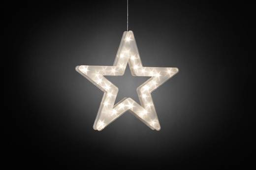 Konstsmide 2786-103 LED-Weichnachtsstern EEK: A (A++ - E) Stern Warm-Weiß LED Transparent