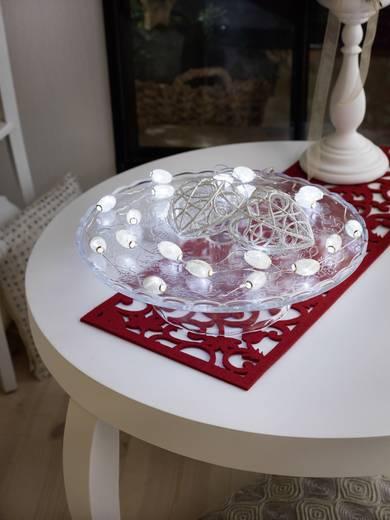 Motiv-Lichterkette Perlen Innen batteriebetrieben 20 LED Kalt-Weiß Beleuchtete Länge: 1.9 m Konstsmide 3155-803