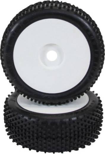 XciteRC 1:8 Buggy Kompletträder offroad Disk Weiß 2 St.