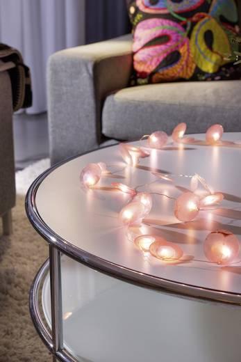 Konstsmide 3167-343 Motiv-Lichterkette Perlmuttplättchen Innen batteriebetrieben 20 LED Warm-Weiß