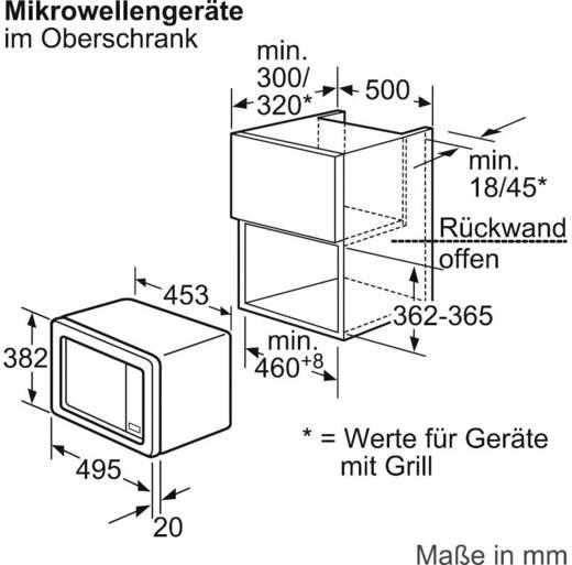 einbau mikrowelle hf15m252. Black Bedroom Furniture Sets. Home Design Ideas