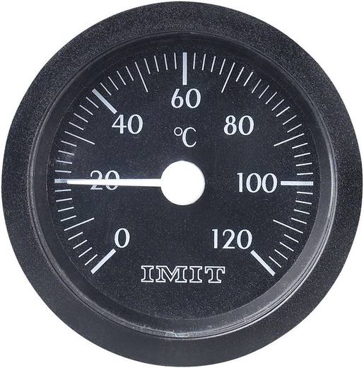 100847 Kapillar-Einbau-Thermometer groß 0 bis +120 °C Einbaumaße Ø 52 mm