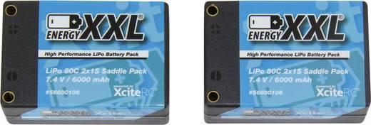 Modellbau-Akkupack (LiPo) 7.4 V 6000 mAh XciteRC Hardcase