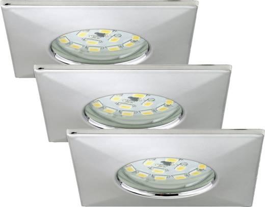 LED-Bad-Einbauleuchte 3er Set 15 W Warm-Weiß Briloner 7205-038 Chrom