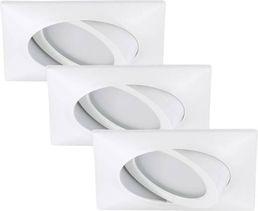 LED-Einbauleuchte 3er Set 15 W Warm-Weiß Briloner 7210-036 Weiß