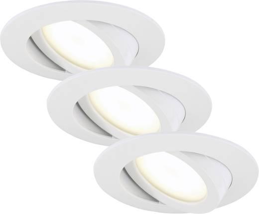 LED-Einbauleuchte 3er Set 15 W Warm-Weiß Briloner 7209-036 Weiß