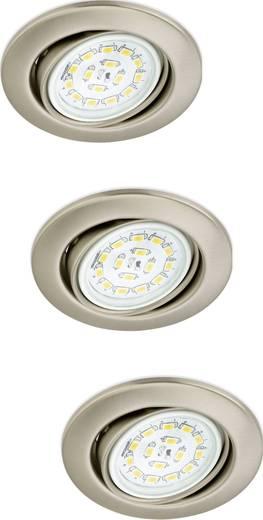 Einbauleuchte 3er Set EEK: A++ (A++ - E) LED GU10 9 W Briloner 7208-032 Nickel (matt)