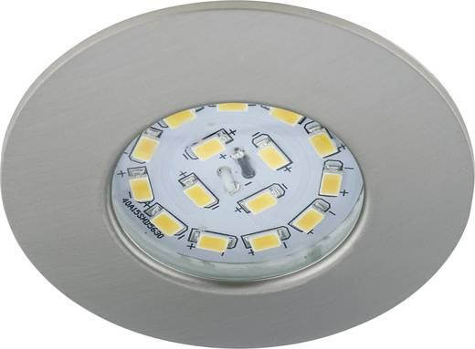 LED-Bad-Einbauleuchte 5 W Warm-Weiß Briloner 7204-012 Nickel (matt)