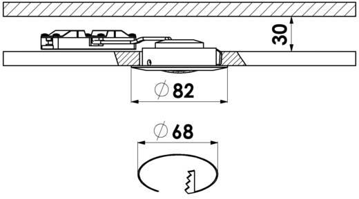 LED-Einbauleuchte 5 W Warm-Weiß Briloner 7210-012 Nickel (matt)