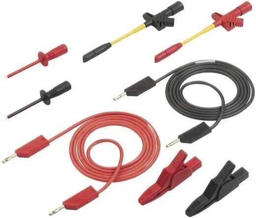 Messleitungs-Set [ Lamellenstecker 4 mm - Lamellenstecker 4 mm] 1.50 m Schwarz, Rot SKS Hirschmann PMS 4 KFZ