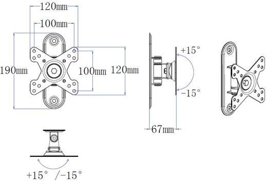"""Monitor-Wandhalterung 25,4 cm (10"""") - 81,3 cm (32"""") Neigbar+Schwenkbar SpeaKa Professional 1217448"""