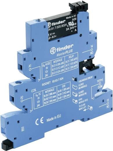 Halbleiterrelais 1 St. Finder 39.30.7.125.9024 Last-Strom (max.): 2 A Schaltspannung (max.): 24 V/DC