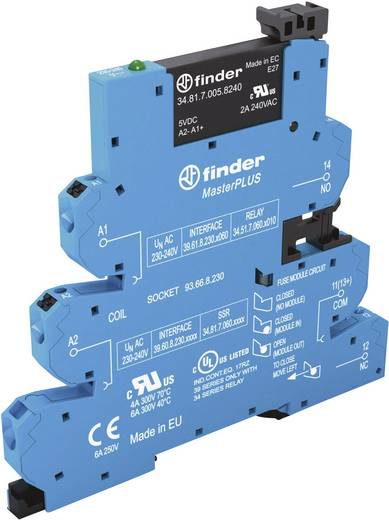 Halbleiterrelais 1 St. Finder 39.60.0.125.9024 Last-Strom (max.): 2 A Schaltspannung (max.): 24 V/DC