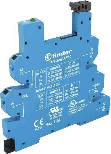 Relaissockel mit Haltebügel, mit LED, mit EMV-Entstörbeschaltung 1 St. Finder 93.60.7.024 Passend für Serie: Finder Seri