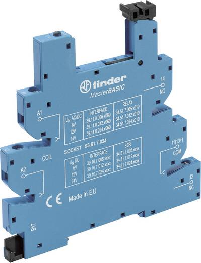 Relaissockel mit Haltebügel, mit LED, mit EMV-Entstörbeschaltung 1 St. Finder 93.61.8.230 Passend für Serie: Finder Seri