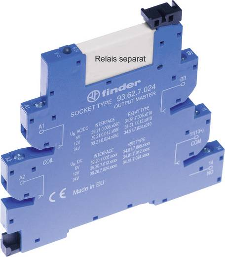 Relaissockel mit Haltebügel, mit LED, mit EMV-Entstörbeschaltung 1 St. Finder 93.62.0.125 Passend für Serie: Finder Seri