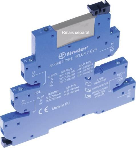 Relaissockel mit Haltebügel, mit LED, mit EMV-Entstörbeschaltung 1 St. Finder 93.63.0.125 Passend für Serie: Finder Seri