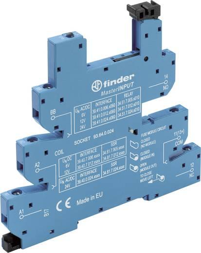 Relaissockel mit Haltebügel, mit LED, mit EMV-Entstörbeschaltung 1 St. Finder 93.64.0.024 Passend für Serie: Finder Seri