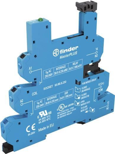 Relaissockel mit Haltebügel, mit LED, mit EMV-Entstörbeschaltung 1 St. Finder 93.66.3.125 Passend für Serie: Finder Seri