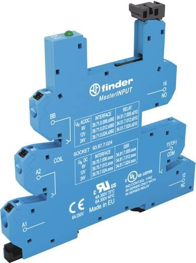 Relaissockel mit Haltebügel, mit LED, mit EMV-Entstörbeschaltung 1 St. Finder 93.67.0.125 Passend für Serie: Finder Seri