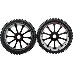 Kompletné kolesá Multipin Amewi 004-51003 pre buggy, 1:5, 1 pár, čierna