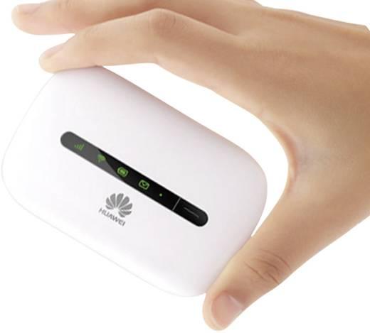 Huawei E5330 Mobiler 3G-WLAN-Hotspot bis 10 Geräte 21.6 MBit/s Weiß
