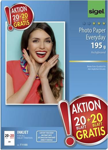 Fotopapier Sigel Photo Paper Everyday HOT DEAL T1155 DIN A4 195 g/m² 40 Blatt Hochglänzend