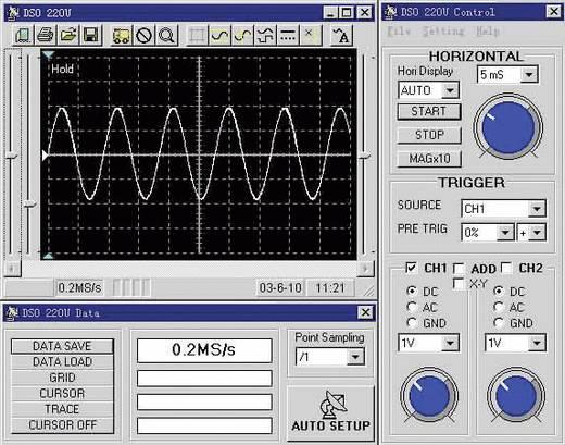 Oszilloskop-Vorsatz VOLTCRAFT DSO-1102 USB 100 MHz 2-Kanal 250 MSa/s 1 Mpts 8 Bit Digital-Speicher (DSO), Spectrum-Anal