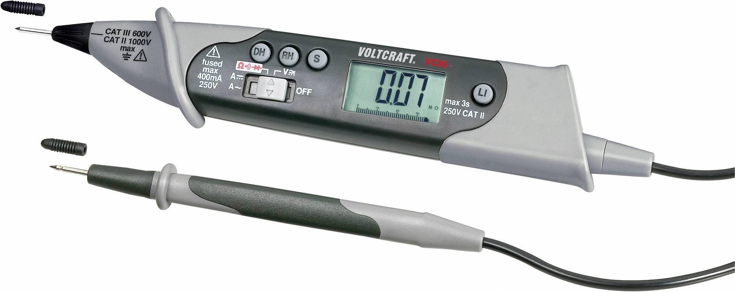 VOLTCRAFT VC-86 Hand-Multimeter  digital  CAT III 250 V Anzeige 4000 Counts