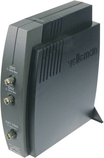 USB-Oszilloskop Velleman PCSU1000 60 MHz 2-Kanal 50 MSa/s 4 kpts 8 Bit Kalibriert nach ISO Digital-Speicher (DSO), Spect