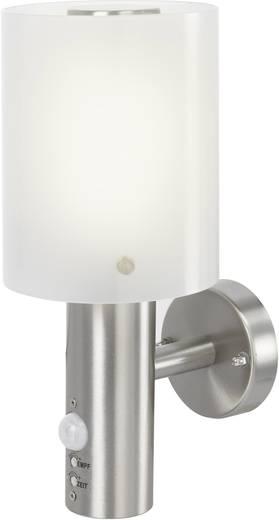 Renkforce Torrent HY0002AUP-6 LED-Außenwandleuchte mit Bewegungsmelder 10.5 W Warm-Weiß Silber