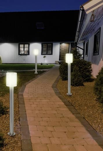 LED-Außenstandleuchte 10.5 W Warm-Weiß Renkforce HY0002PSH-6 Torrent Silber