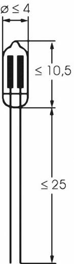 Glimmlampe 115 V, 230 V 0.25 W Klar 00071010 Barthelme 1 St.
