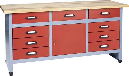 Küpper 12872 Werkbank 9 Schubladen, 1 Tür Rot, Silber-Grau (B x H x T) 1700 x 840 x 600 mm