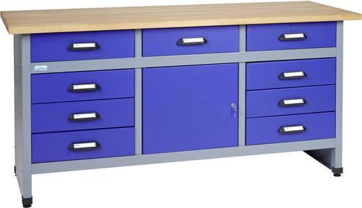 Küpper 12877 Werkbank 9 Schubladen, 1 Tür Ultramarin-Blau, Silber-Grau (B x H x T) 1700 x 840 x 600 mm