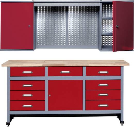 k pper 70428 2 sparset werkbank und h ngeschrank rot. Black Bedroom Furniture Sets. Home Design Ideas