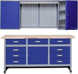 Set établi + armoire murale Küpper 70428-7 bleu outremer, gris-argent