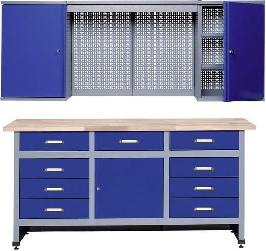 Küpper 70428-7 Sparset Werkbank und Hängeschrank Ultramarin-Blau, Silber-Grau